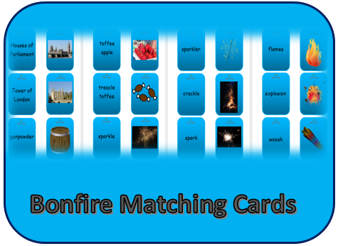 bonfire matching cards