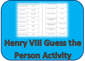 Henry V111 Guess person