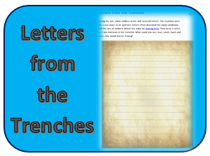 Letters trenches