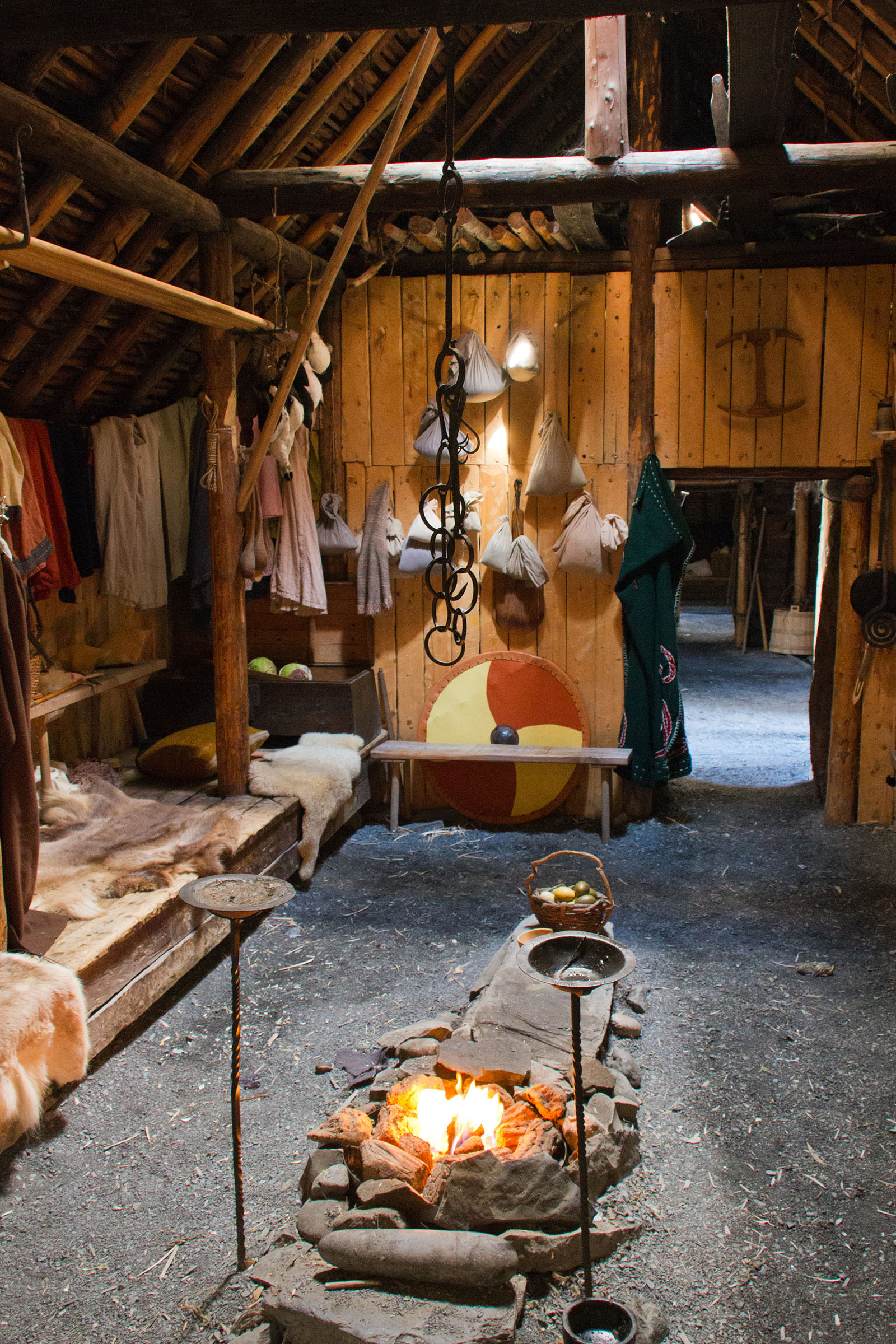 Viking longhouse - interior/exterior.